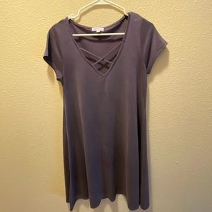 Dusty Purple T-Shirt Dress